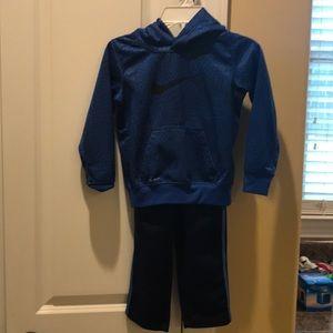 Size 4 Nike hoodie and Adidas pants